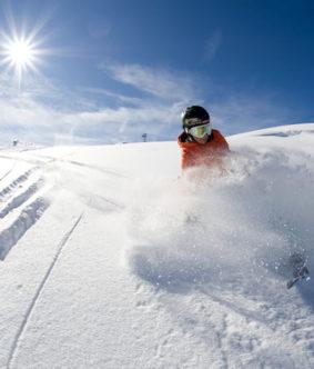 skien op de alm