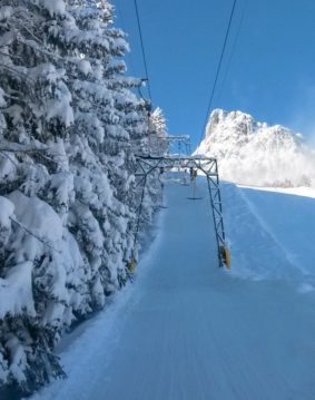 postalm lift in de winter