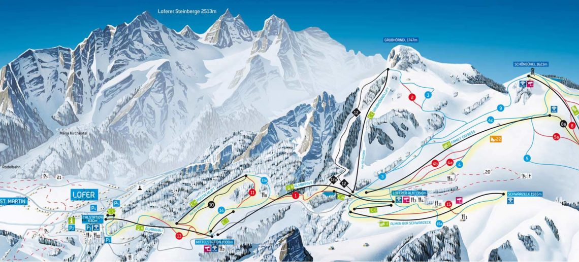 skigebied almenwelt lofer