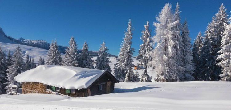 almhut in winter